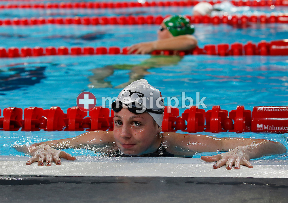 Danielle VILLARS of Switzerland steps out of the pool after competing in the women's 50m Butterfly Heats during the 11th Fina World Short Course Swimming Championships held at the Sinan Erdem Arena in Istanbul, Turkey, Thursday, Dec. 13, 2012. (Photo by Patrick B. Kraemer / MAGICPBK)