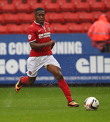 Charlton Athletic's Callum Harriott carries the ball  - Photo mandatory by-line: Robin White/JMP - Tel: Mobile: 07966 386802 24/08/2013 - SPORT - FOOTBALL - The Valley - Charlton -  Charlton Athletic V Doncaster Rovers - Sky Bet League Two