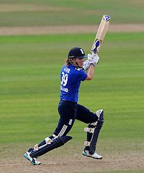 England's Natalie Sciver cuts the ball - Photo mandatory by-line: Harry Trump/JMP - Mobile: 07966 386802 - 21/07/15 - SPORT - CRICKET - Women's Ashes - Royal London ODI - England Women v Australia Women - The County Ground, Taunton, England.
