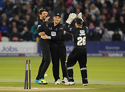 Luke Wright and the Sussex team celebrate a wicket.  - Mandatory by-line: Alex Davidson/JMP - 01/06/2016 - CRICKET - The 1st Central County Ground - Hove, United Kingdom - Sussex v Somerset - NatWest T20 Blast