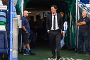 Phillip Cocu of Derby County (Manager) during the EFL Sky Bet Championship match between Huddersfield Town and Derby County at the John Smiths Stadium, Huddersfield, England on 5 August 2019.