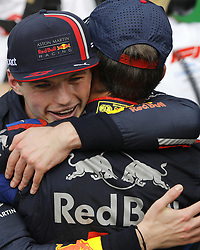 November 17, 2019, SãO Paulo, Brazil: SÃO PAULO, SP - 17.11.2019: GRANDE PRÊMIO DO BRASIL F1 2019 - Max VERSTAPPEN (NED) Aston Martin Red Bull Racing and Pierre GASLY (FRA) Red Bull Toro Rosso Honda during the Formula 1 2019 Brazilian Grand Prix, held at the Interlagos Circuit in São Paulo, SP. (Credit Image: © Rodolfo Buhrer/Fotoarena via ZUMA Press)