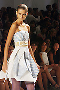 Model at The Abaete show at 2008 Mercedes-Benz Fashion Week held at the Salon at the