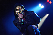 Hollywood Undead performs on May 15, 2011 at Verizon Wireless Amphitheater in St. Louis, Missouri. © 2011 Todd Owyoung.