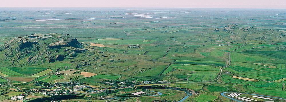 Utsýn Flúðir - Miðfell, Hrunamannahreppur, uturstækkun.fyrir Hitaveitunna á Fluðum.Specialy cropped photo for the Geothermal watersupply authorities at Fludir.