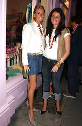 Left to right, LADY EMILY COMPTON and MISS ALICE DEEN at a party to celebrate the opening of the new Lotus store at 11 Pont Street, London SW1 on 13th September 2005.<br />