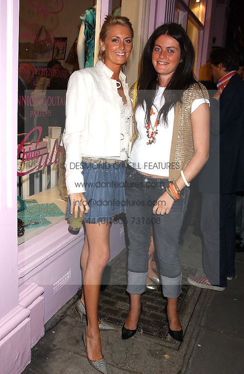 Left to right, LADY EMILY COMPTON and MISS ALICE DEEN at a party to celebrate the opening of the new Lotus store at 11 Pont Street, London SW1 on 13th September 2005.<br /><br />NON EXCLUSIVE - WORLD RIGHTS