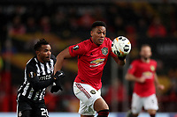 Football - 2019 / 2020 UEFA Europa League - Group L: Manchester United vs. FK Patrizan Belgrade<br /> <br /> Seydouba Soumah of FK Partizan and Anthony Martial of Manchester United, at Old Trafford<br /> <br /> COLORSPORT/PAUL GREENWOOD