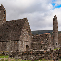 Ancient monastery and graveyard in the Wicklow Mountains, County Wicklow, Ireland