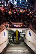 The station is locked - Armed police flood the Oxford Circus area after an incident caused the station to be cleared.