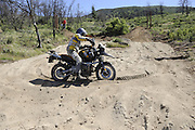 Rider navigating sand pit during day 1 2010 Rawhyde Adventure Rider Challenge