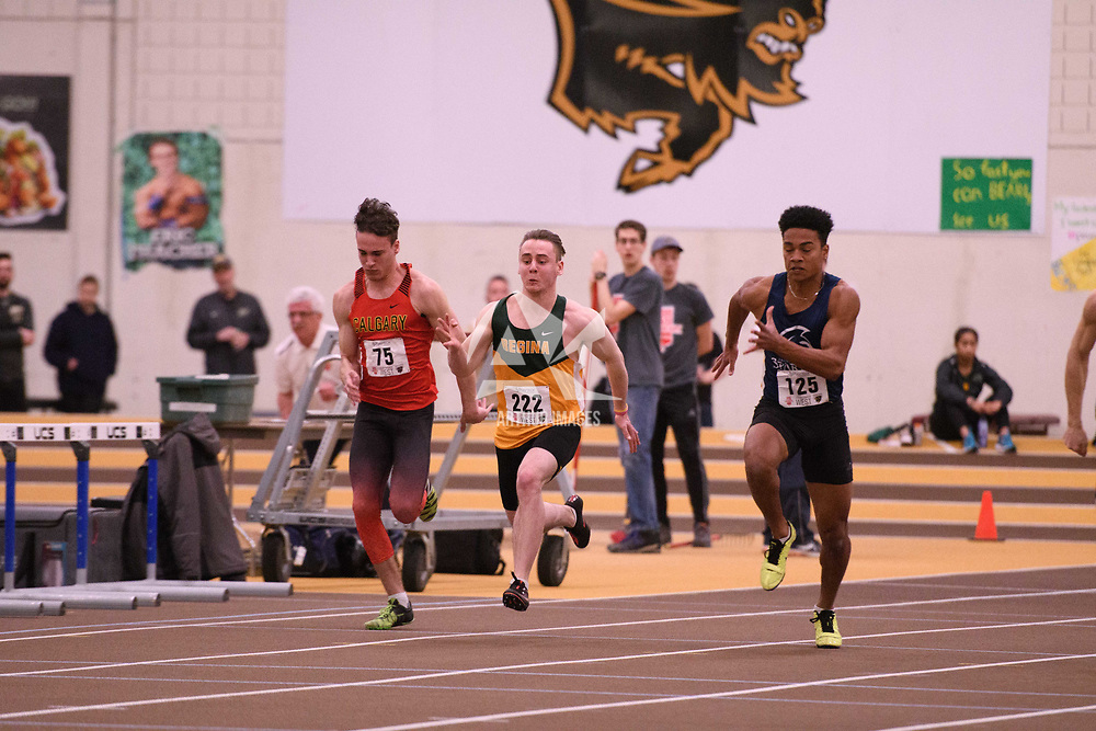 Austin Dundas in action during the 2018 Canada West Track & Field Championship on February  24 at James Daly Fieldhouse. Credit: Arthur Ward/Arthur Images