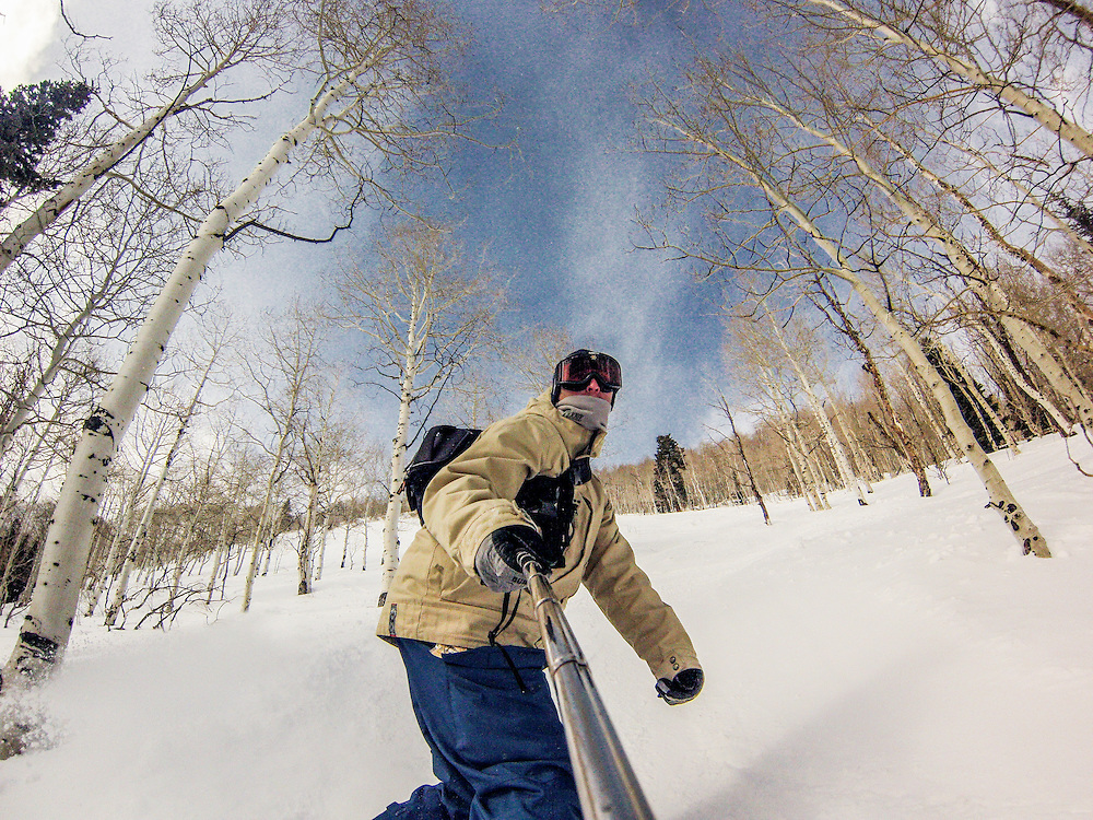 Skiing and snowboarding at Canyons Resort, Utah