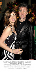 MR & MRS PAUL YOUNG, he is the singer she is model Stacey Young the model, at a party in London on 8th February 2001.	OLE 25