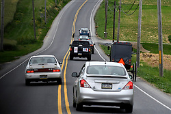 Protest caravan of local activist to drives back country roads in Lancaster County, PA, on May 20, 2017 to protest the plans of a cross lighting of a Maryland based Ku Klux Klan chapter in QuarryVille, PA.