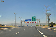 Israel, Highway 6 heading south Near Yokneam Highway 6, the Yitzhak Rabin Cross Israel toll Highway