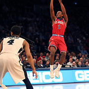 Phil Greene IV, St John's, shoots during the Providence Vs St. John's Red Storm basketball game during the Big East Conference Tournament at Madison Square Garden, New York, USA. 12th March 2014. Photo Tim Clayton