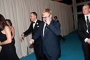 DAVID FURNISH; SIR ELTON JOHN, Grey Goose Winter Ball to Benefit the Elton John AIDS Foundation. Battersea park. London. 29 October 2011. <br /> <br />  , -DO NOT ARCHIVE-© Copyright Photograph by Dafydd Jones. 248 Clapham Rd. London SW9 0PZ. Tel 0207 820 0771. www.dafjones.com.