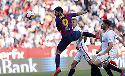 February 23, 2019 - Seville, Madrid, Spain - Luis Suarez (FC Barcelona) seen in action during the La Liga match between Sevilla FC and Futbol Club Barcelona at Estadio Sanchez Pizjuan in Seville, Spain. (Credit Image: © Manu Reino/SOPA Images via ZUMA Wire)