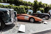 Como, Italy, Concorso d'Eleganza Villa D'Este, from left Bentley MK VI, Lancia Stratos,Bugatti 57