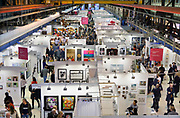 Nederland, Amsterdam, 4-11-2018AAF, The Affordable Art Fair in de kromhouthal . Dit is een kunstbeurs voor betaalbare moderne kunst. Foto: Flip Franssen