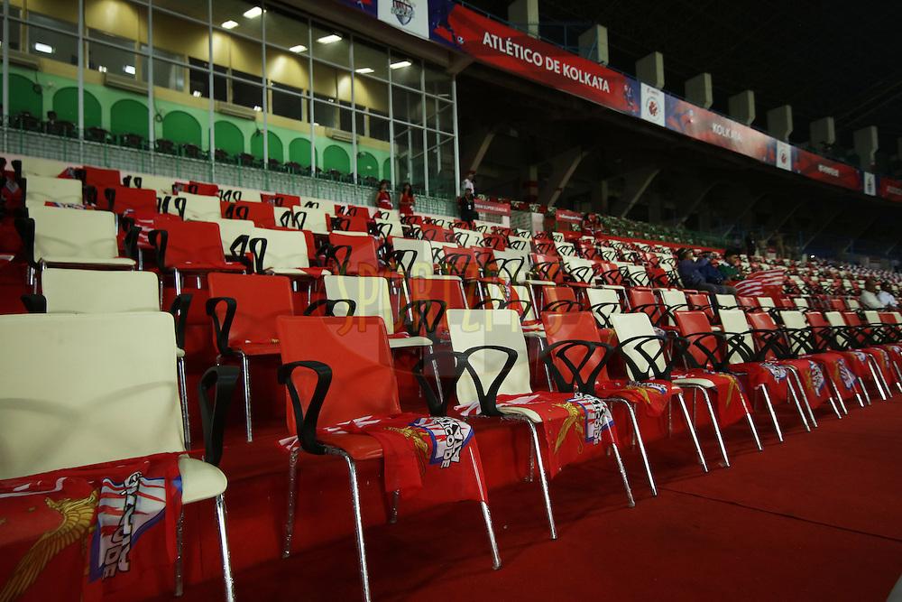 GV, Branding during match 48 of the Indian Super League (ISL) season 2  between Atl&eacute;tico de Kolkata and FC Pune City held at the Salt Lake Stadium, Kolkata, India on the 27th November 2015.<br /> <br /> Photo by Saikat Das / ISL/ SPORTZPICS