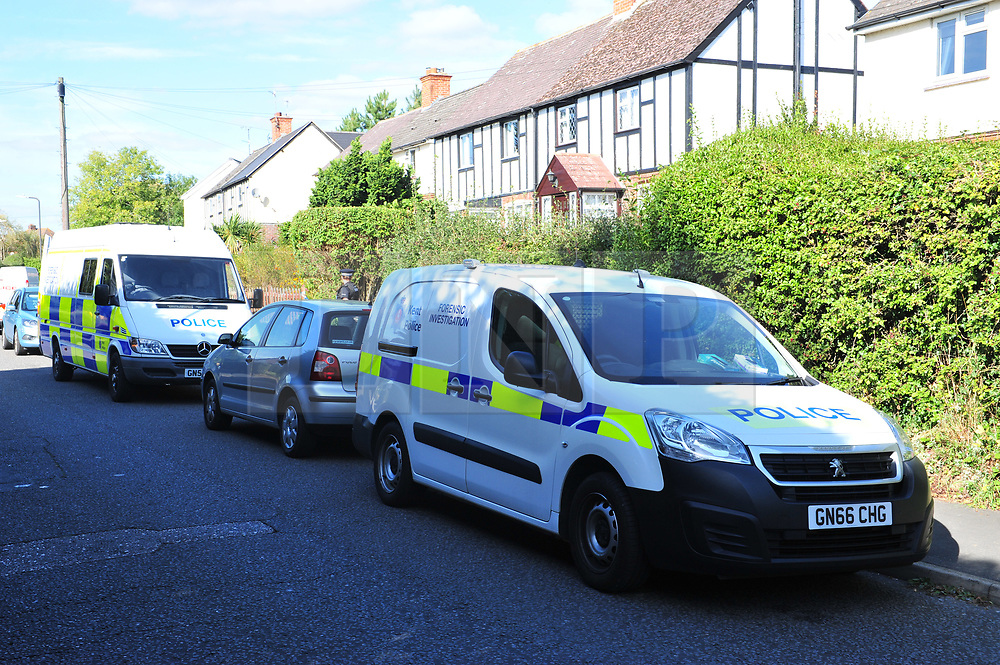 © Licensed to London News Pictures. 29/09/2018<br /> HADLOW, UK.<br /> A murder investigation has been launched in Hadlow,Kent after the deaths of two women at Carpenters Lane. A 28 year old man has been arrested on suspicion of murder after three people suffered serious injuries. Police forensic officers are at the scene inside two properties 26 and 24 Carpenters Lane.<br /> Photo credit: Grant Falvey/LNP