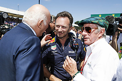 July 8, 2018 - Silverstone, Great Britain - Motorsports: FIA Formula One World Championship 2018, Grand Prix of Great Britain, ..Christian Horner (GBR, Aston Martin Red Bull Racing), Sir Jackie Stewart  (Credit Image: © Hoch Zwei via ZUMA Wire)