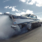 WELLINGBOROUGH, ENGLAND - JULY 17: American Outlaw Street car at Santa Pod Raceway on July 17, 2016 in Wellingborough, England. (Photo by Split Second/Corbis via Getty Images)