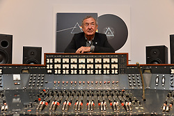 Pink Floyd drummer NICK MASON poses with an Abbey Road Studios EMI TG12345 MK IV recording console, which will be sold by Bonhams at their TCM Presents...Rock and Roll Through the Lens sale in New York on March 27, and is on display at Bonhams Knightsbridge saleroom. The console was used by Pink Floyd to record their landmark album, The Dark Side of the Moon. © Licensed to London News Pictures. 20/03/2017. London, UK. Photo credit: Ray Tang/LNP