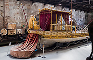 A royal vessel built in 1850 on display at the Ship Pavilion of the Museo Storico Navale di Venezia in Venice, Italy