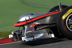 09.03.2011, Circuit de Catalunya, Barcelona, ESP, Formel 1 Test 4 2011,  im Bild McLaren Nose Measuring Devices.EXPA Pictures © 2011, PhotoCredit: EXPA/ nph/  Poleposition.at       ****** only for AUT ans SLO *******