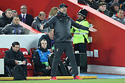 Liverpool Manager Jurgen Klopp expresses his feelings during the Champions League Quarter-Final Leg 1 of 2 match between Liverpool and FC Porto at Anfield, Liverpool, England on 9 April 2019.