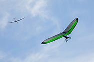 Ellenville, NY - A hang glider and a glider soar in the sky on Oct. 25, 2009.