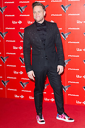 © Licensed to London News Pictures. 03/01/2019. London, UK. OLLIE MURS attends the The Voice UK 2019 ITV press launch. Photo credit: Ray Tang/LNP