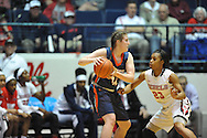 Tennessee Martin Skyhawks forward Chelsea Roberts (14) is defended by Mississippi Lady Rebels guard Shandricka Sessom (23) in a WNIT game in Oxford Miss. on Wednesday, March 18, 2015. Ole Miss won 80-70. (AP Photo/Oxford Eagle, Bruce Newman)
