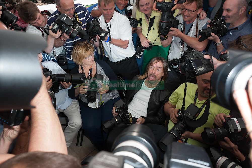 Iggy Pop at a photocall for the film 'Gimme Danger' as part of the 69th Cannes International Film Festival, at the Palais des Festivals in Cannes, southern France on May 19, 2016. Photo by Nicolas Genin/ABACAPRESS.COM