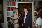 ROWAN YAPP AND GEORGE LEIGH, Book launch for 'In search of the English Eccentric' by Henry Hemming. 50 Albermarle St. London. W1S 4BD *** Local Caption *** -DO NOT ARCHIVE-© Copyright Photograph by Dafydd Jones. 248 Clapham Rd. London SW9 0PZ. Tel 0207 820 0771. www.dafjones.com.