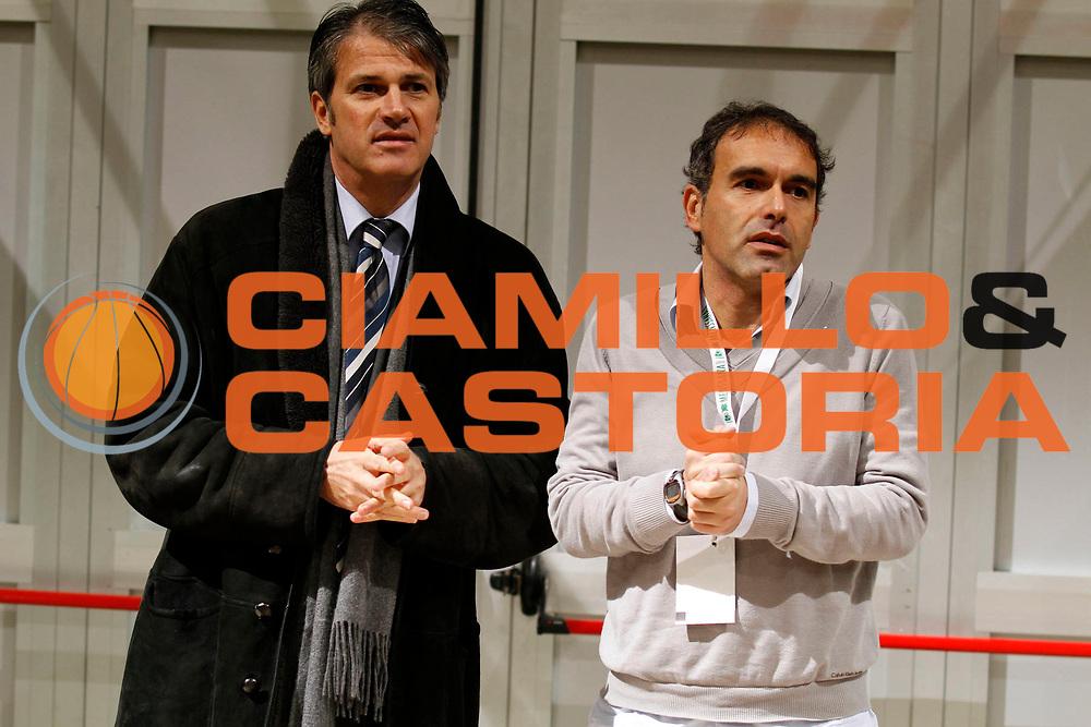 DESCRIZIONE : Siena Lega A 2010-11 Montepaschi Siena Armani Jeans Milano <br /> GIOCATORE : Giampiero Hruby Claudio Limardi<br /> SQUADRA : Montepaschi Siena<br /> EVENTO : Campionato Lega A 2010-2011<br /> GARA : Montepaschi Siena Armani Jeans Milano<br /> DATA : 05/12/2010<br /> CATEGORIA : press Vip<br /> SPORT : Pallacanestro<br /> AUTORE : Agenzia Ciamillo-Castoria/ElioCastoria<br /> Galleria : Lega Basket A 2010-2011<br /> Fotonotizia : Siena Lega A 2010-11 Montepaschi Siena Armani Jeans Milano<br /> Predefinita :