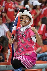 BANGKOK, THAILAND - Wednesday, July 22, 2009: A Thailand supporter during a preseason friendly match at the Rajamangala Stadium. (Pic by David Rawcliffe/Propaganda)