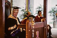 Hong Kong. Chris Paten the last governor; at the graduation ceremony in Chinese university   / Chris Paten le dernier gouverneur, remise des diplômes à l'université chinoise de HongKong  / R00057/43    L1124  /  P0000897