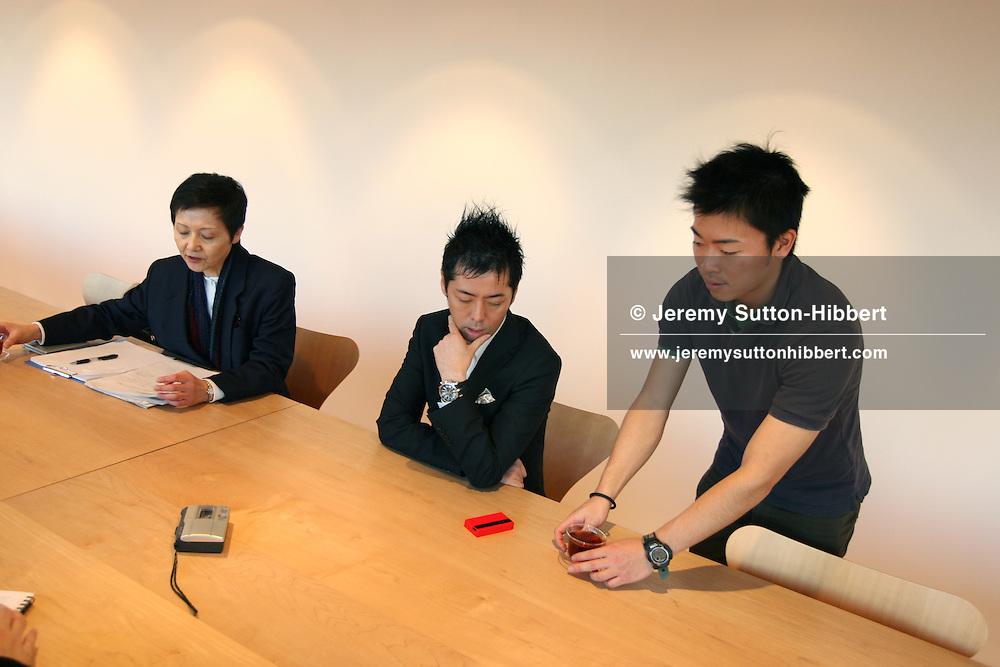 Kashiwa Sato, of 'Samurai' ( a design studio), art director for Uniqlo clothing stores, Tokyo, Japan, Thursday, Nov. 22nd, 2007.