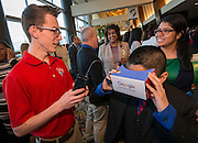 Students from Lamar High School give a presentation during the State of the Schools luncheon at the Hilton of the Americas, February 15, 2017.