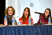 Queens College panel discussion: Women, Technology and Internet Culture, 3/16/15. L-R:  Ellen Ullman, Holly Jacobs and Amanda Filipacchi.