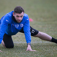 St Johnstone Training....13.02.15<br /> James McFadden pictured during training this morning at McDiarmid Park ahead of tomorrow's game against Celtic<br /> Picture by Graeme Hart.<br /> Copyright Perthshire Picture Agency<br /> Tel: 01738 623350  Mobile: 07990 594431