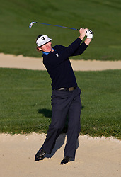February 14, 2010; Pebble Beach, CA, USA;  Brandt Snedeker hits out of a bunker on the second hole during the final round of the AT&T Pebble Beach Pro-Am at Pebble Beach Golf Links.