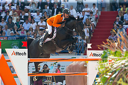 Jeroen Dubbeldam, (NED), Cortes C - Show Jumping Final Four - Alltech FEI World Equestrian Games™ 2014 - Normandy, France.<br /> © Hippo Foto Team - Leanjo de Koster<br /> 07-09-14
