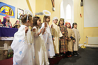 08/12/2014 Children from Fanore National school performing the Nativity at the Church in Fanore Co. Clare   Photo:Andrew Downes