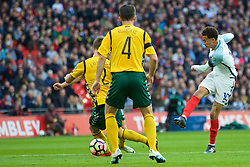 LONDON, ENGLAND - Sunday, March 26, 2017: England's Dele Alli in action against Lithuania during the 2018 FIFA World Cup Qualifying Group F match at Wembley Stadium. (Pic by Lexie Lin/Propaganda)