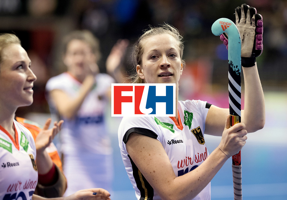 BERLIN - Indoor Hockey World Cup<br /> Women: Ukraine - Germany<br /> foto: Franzisca Hauke.<br /> WORLDSPORTPICS COPYRIGHT FRANK UIJLENBROEK